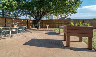 Outdoor area in russell skilled nursing