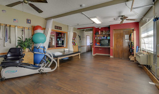 Russell skilled nursing facility fitness area