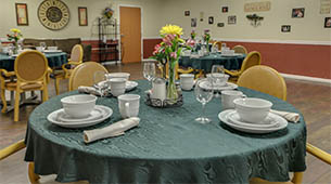 Amenities featured at Galena Nursing Center in Galena, KS.