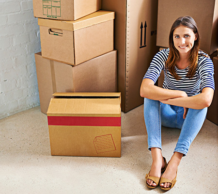 Woman enjoys her experience at Access Self Storage in the Indianapolis metropolitan area.