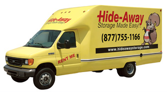Truck rentals at Hide-Away Storage