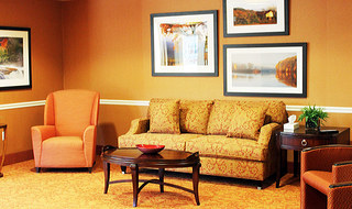 Open living room at the senior living community in Wichita