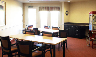Wichita senior living has a spacious common room