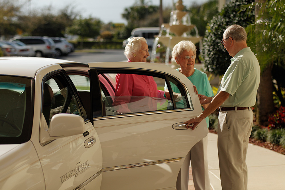 Limo pickup at tequesta senior living