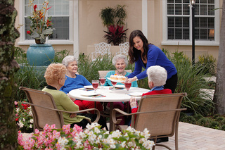 Woman get together assisted living 27
