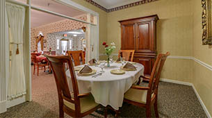 Services and amenities for senior living residents at Azalea Court.
