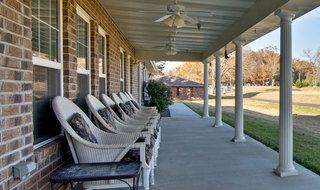Back porch of paris assisted living