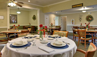 Dining set at paris assisted living