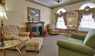 Paris assisted living fire side lounge