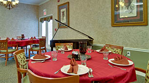 Services and amenities for senior living residents at Chestnut Glen.