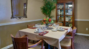 Services and amenities for senior living residents at Spencer Place.