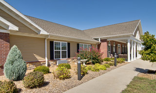 Front walkway webb city assisted living