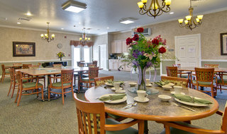 Webb city assisted living dining hall