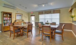 Kitchen and dining at martin assisted living