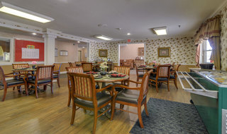 Warrensburg assisted living dining hall