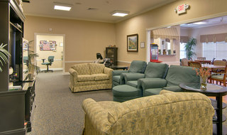 Assisted living tv lounge in boonville