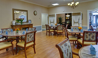 Boonville assisted living dining hall