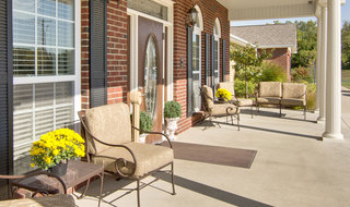 Boonville assisted living front porch