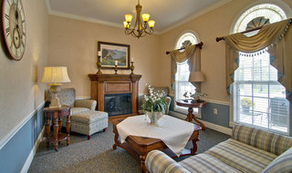 Fire place loune at boonville assisted living