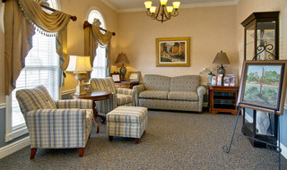 Reading lounge at boonville assisted living