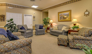 Madison assisted living reading lounge