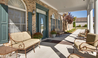 Front porch at kirksville assisted living