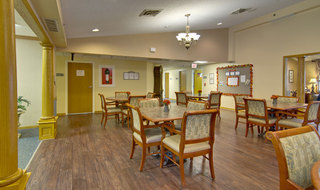Dining hall at clinton assisted living