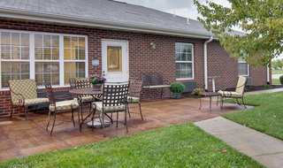 Back porch at carthage assisted living