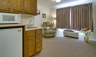 Living room at spring hill assisted