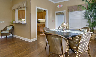Spring hill assisted living dining and kitchen