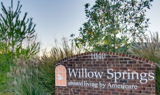 Spring hill assisted living front garden