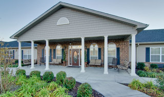 Spring hill assisted living front porch