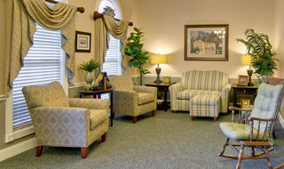 Spring hill assisted living reading lounge