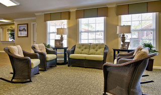 Ozark assisted living reading area