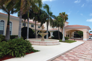Fountain at tequesta terrace assisted living pink