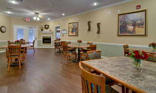 Dining hall olive branch assisted living