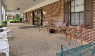 Olive branch assisted living front porch