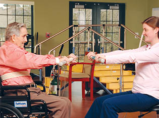 Rehabilitation services in Moran at Moran Manor.