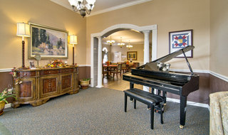 Covington assisted living music room