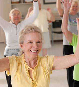 Wellness for healthy senior living with Parkside.
