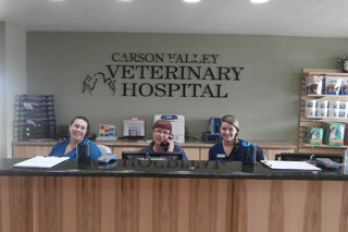 Front desk at minden veterinary clinic