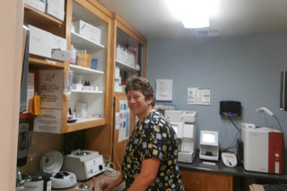 In house lab at minden veterinary clinic