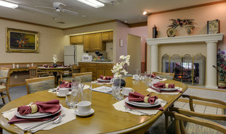 Dining set at oswego assisted living