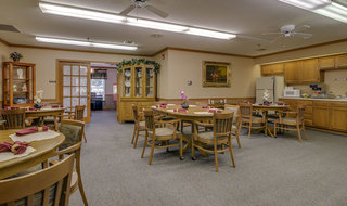 Oswego assisted living dining hall