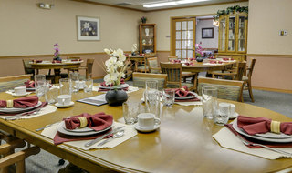 Oswego assisted living dining set