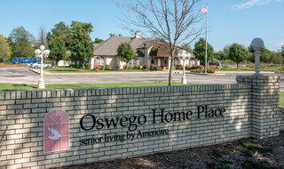 Oswego assisted living parking lot
