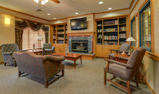 Fire side library at great bend assisted living