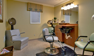 Hair salon at poplar bluff assisted living