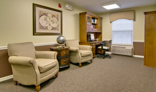 Library and office at assisted living in poplar bluff
