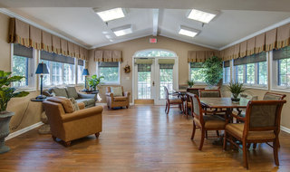 Community hall at mcminnville assisted living